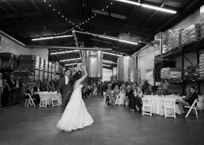 First dance at Three Taverns Brewery