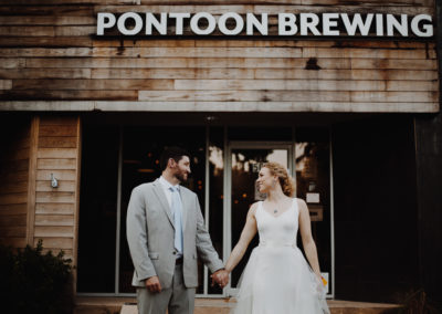 Couple in front of Pontoon Brewing