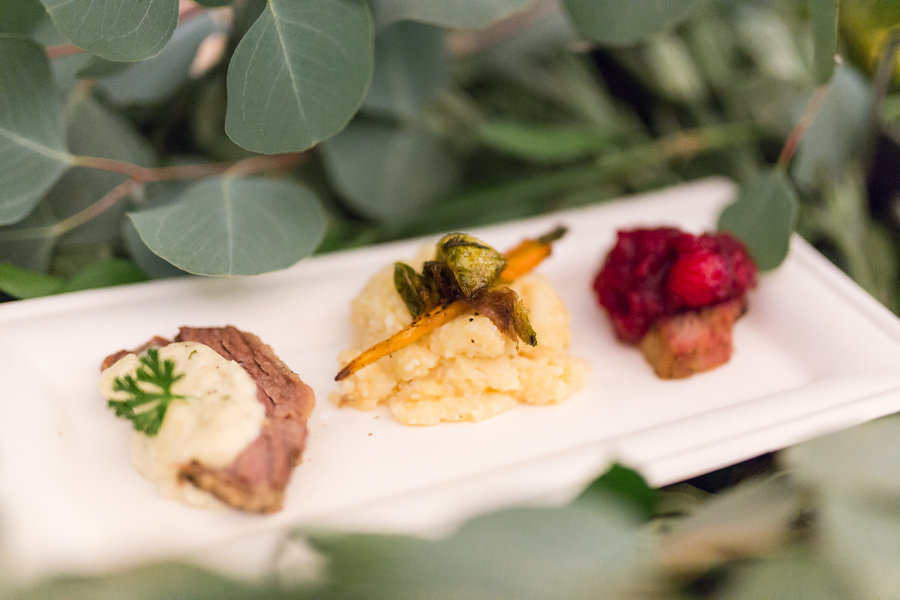 plated food for an event