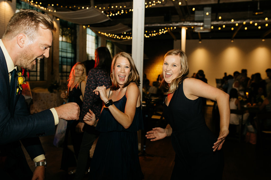 Dancing at an event